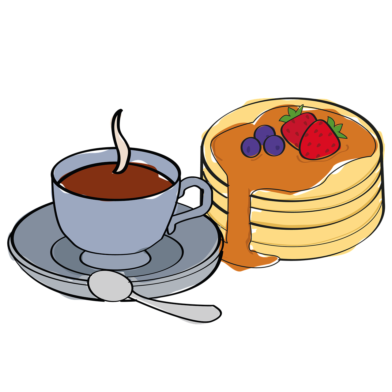 breakfast, coffee break, pancakes