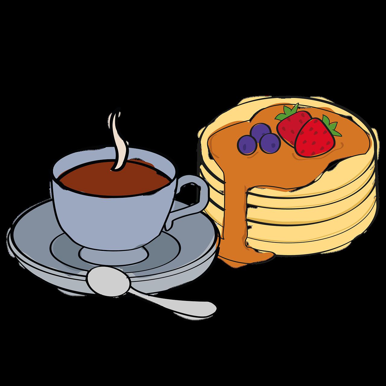 breakfast, coffee break, pancakes